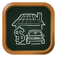 House with dollar and car icon