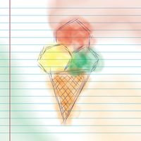 Ice cream cone sketch