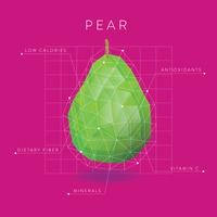Infographic of a pear