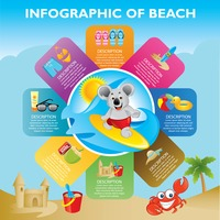 Infographic of beach