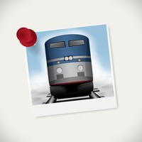 Instant photograph of train