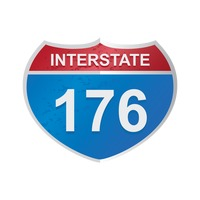 Interstate 176 route sign