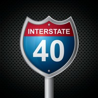 Interstate 40 route sign