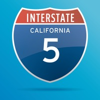 Interstate five route sign