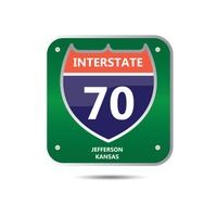 Interstate seventy route sign