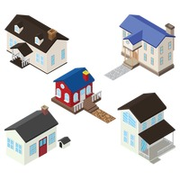 Isometric homes and houses