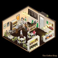 Isometric of coffee shop