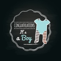 It's a boy label