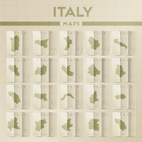 Italy maps icons