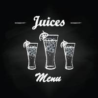 Juices menu card design