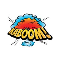 Kaboom text with comic effect