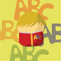 Kid reading alphabets