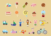 Kids stickers collection