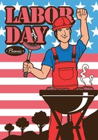 Labor day picnic design