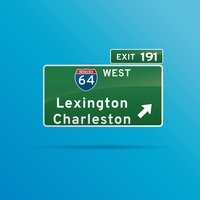 Lexington charleston roadsign board