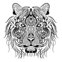 Lion monochrome design