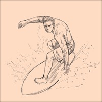 Man surfing on surfboard