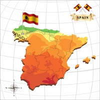 Map of spain with vigo