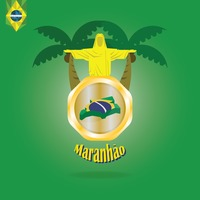 Maranhao map wallpaper