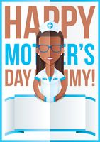 Mothers day design with nurse