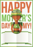 Mothers day design with soldier