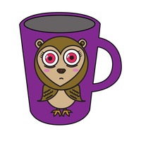 Mug with owl design