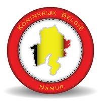 Namur map sticker