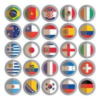 National flags buttons