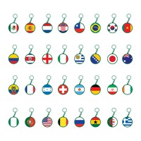 National flags key chain
