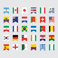 National pennant flags set