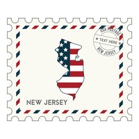 New jersey postage stamp