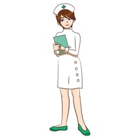 Nurse holding book