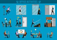 Office activities set