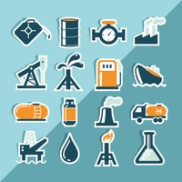 Oil and gas icons