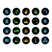 Oil and gas industrial icons