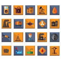Oil and gas industry icons