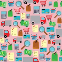 Online shopping theme background