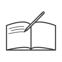 Open book with pen icon