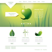 Organic fruit website template