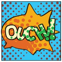 Ouch comic speech bubble