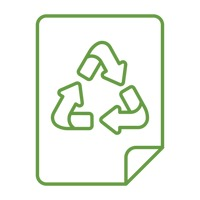 Paper with recycle symbol