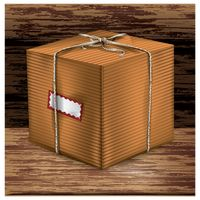 Parcel box with label