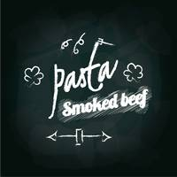 Pasta smoked beef menu card design