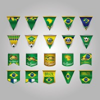 Pennant with brazil flag