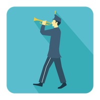 Person playing trumpet