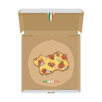 Pizza in shape of aosta valley map