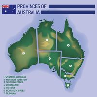 Province of australia on the map