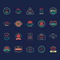 Ride bicycle labels set
