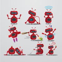 Robot with different actions