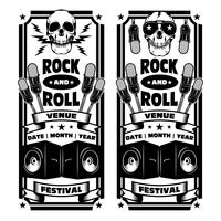 Rock and roll festival banner